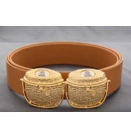 Deborah Purtell Nantucket Basket Gold Buckle