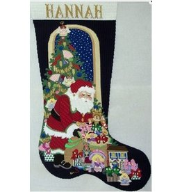 Strictly Christmas Santa stocking with Gift Bag