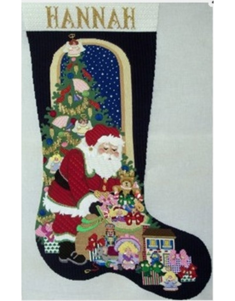 Strictly Christmas Santa stocking with Gift Bag