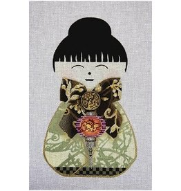 "Lani Asian Doll Purple Lantern<br /> 11"" x 6.5"""