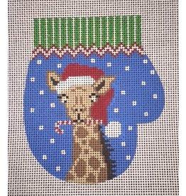 Elizabeth Turner Giraffe Mitten ornament