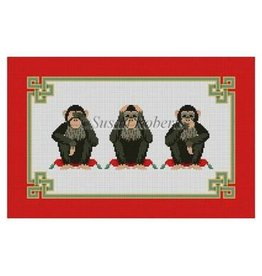 "Susan Roberts Hear See Speak No Evil<br /> 15"" x 10"""