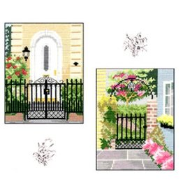 CW Designs City Gardens Collections 4<br /> Cross Stitch Pattern