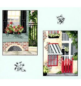 CW Designs City Gardens Collection 5<br /> Cross Stitch Pattern