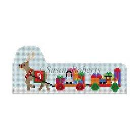 Susan Roberts Prancer Pulling Toy Wagons