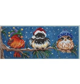 Julie Mar Trio of Perched Birds in Hat<br />