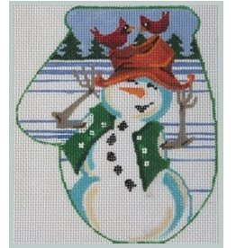 Julie Mar Birds Perch on Snowman&#039;s Hat<br />