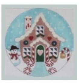 Julie Mar Gingerbread House with Snowman - ornament