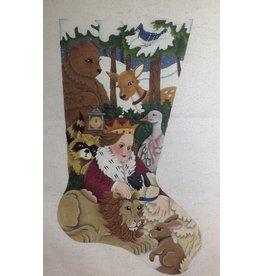 JB Designs Prince with forest animals stocking