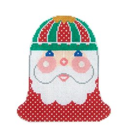 "Shelly Tribbey Santa Face Bell (with accessory bell) 5""x4.5"""