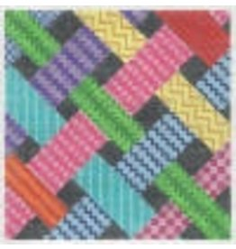 "Barbara Bergsten Ribbon Sampler 6""x6"""