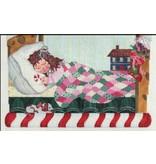 A Bradley Christmas Scene - Little Girl Sleeping - Stocking Topper