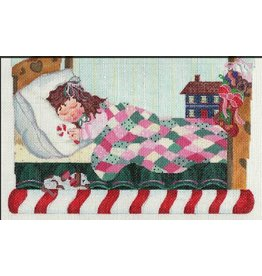 A Bradley Christmas Scene - Little Girl Sleeping - Stocking Topper
