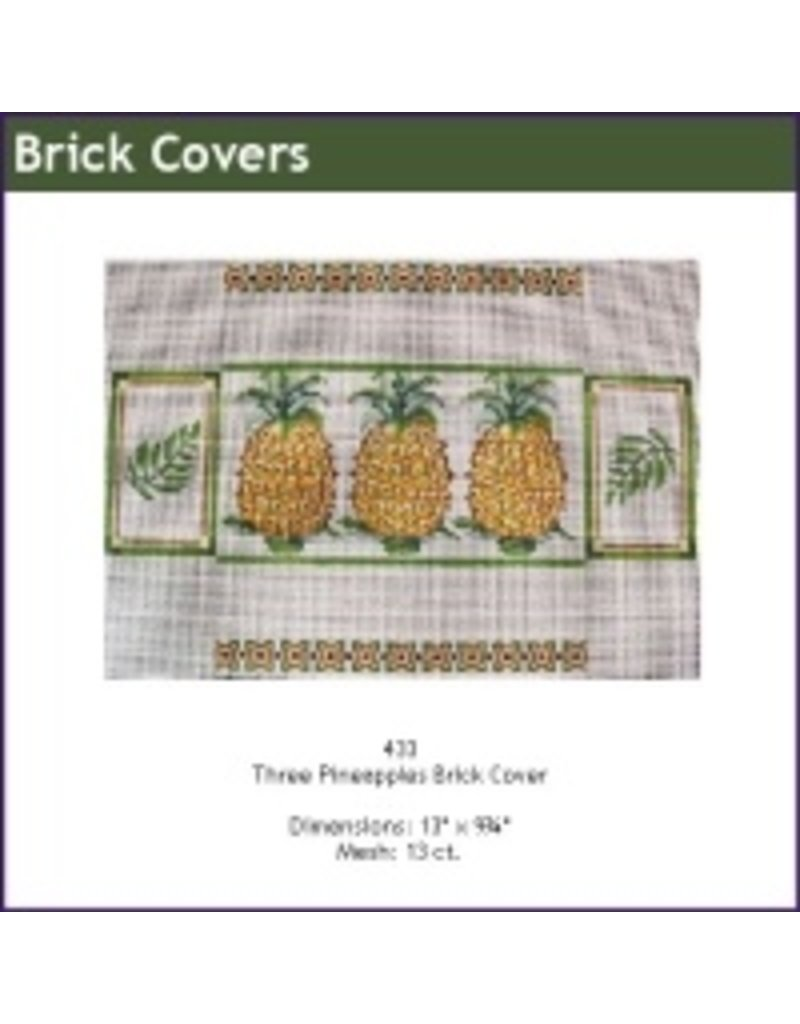 All About Stitching Three pineapples brickcover