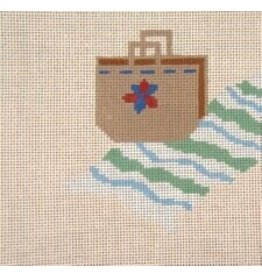 Needle Crossing Beach, bag &amp; towel<br />