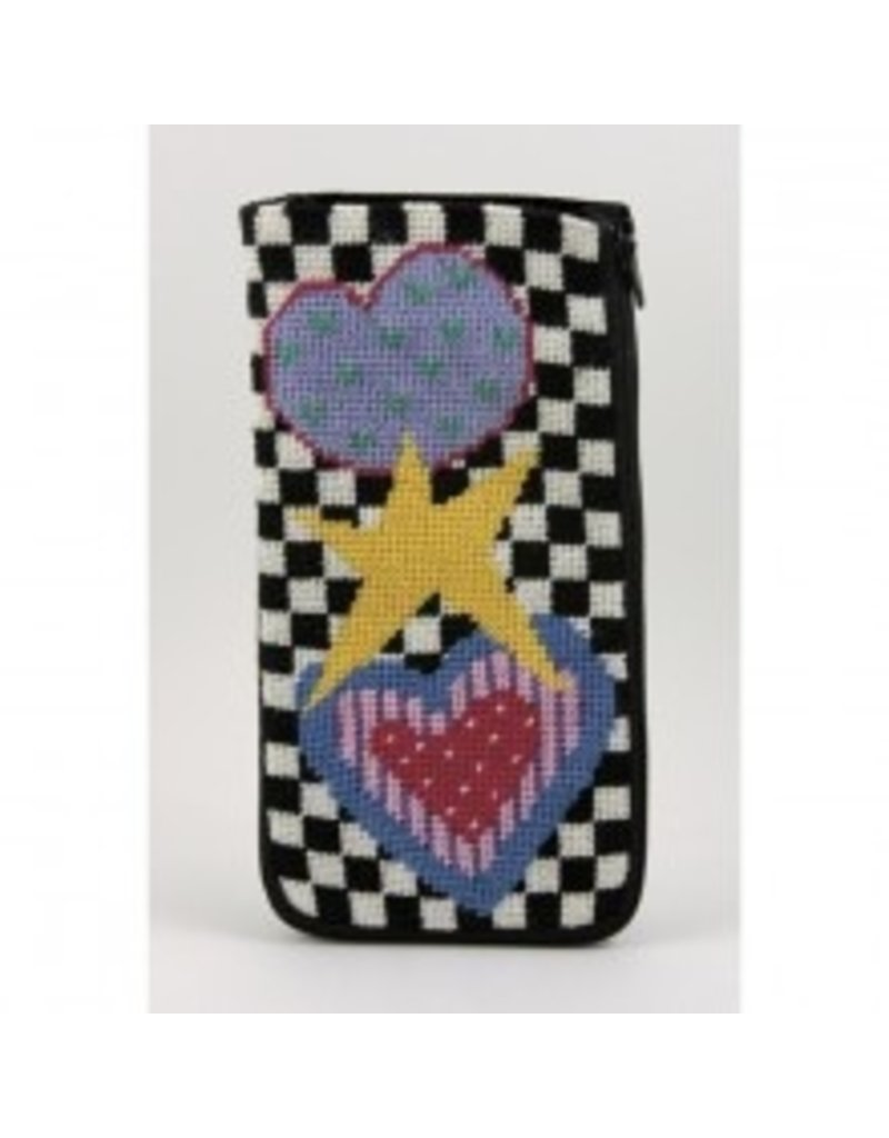 Alice Peterson Two Hearts & a Star eye glass case