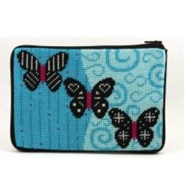 Alice Peterson Black Butterflies cosmetic case
