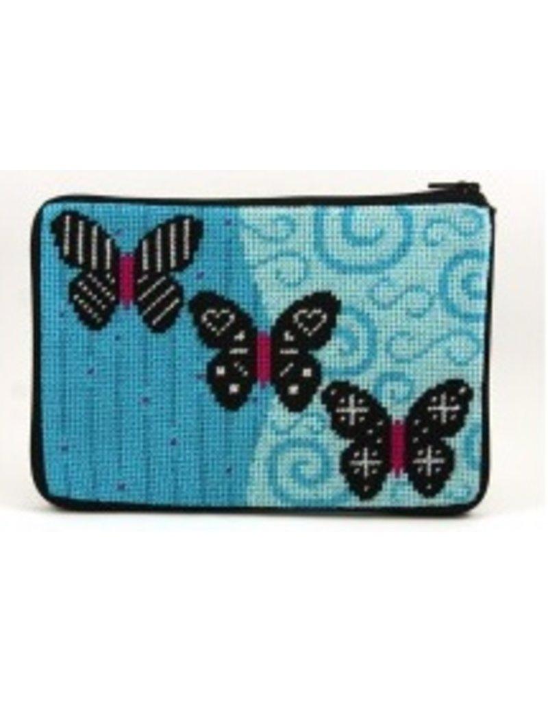 Alice Peterson Black Butterflies cosmetic case