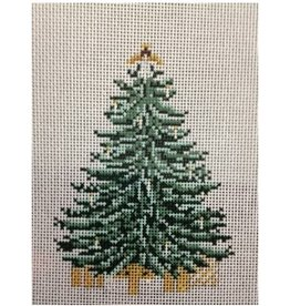 Needle Crossing Angel Topped Tree  <br />4&quot;x5&quot;