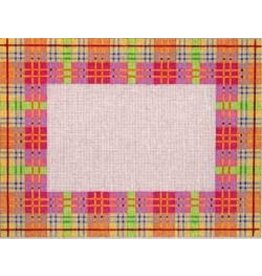 Associated Talent Plaid Frame - Pink, Yellow & Green Plaid