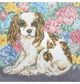 "Barbara Russell King Charles Cavalier 12""x12"""
