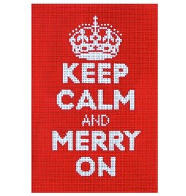 "Amanda Lawford Keep Calm & Merry On 9""x 6"""