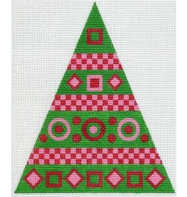 Artist Collection Checked Ribbon Christmas Tree