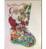 Alice Peterson Santa & his toys stocking