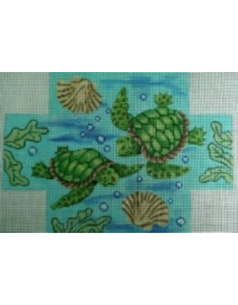 All About Stitching Sea Turtles - brick cover