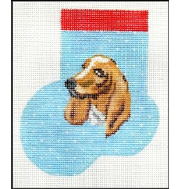 A Bradley Bassett Hound stocking ornament