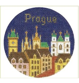 "Colonial Needle Prague - Travel Round - ornament<br /> 4"" Round"