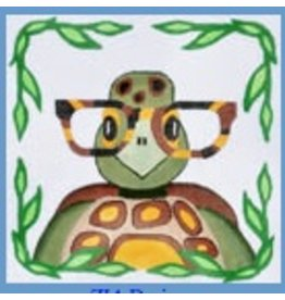 "Danji Turtle w/Glasses<br /> 8"" x 8"""