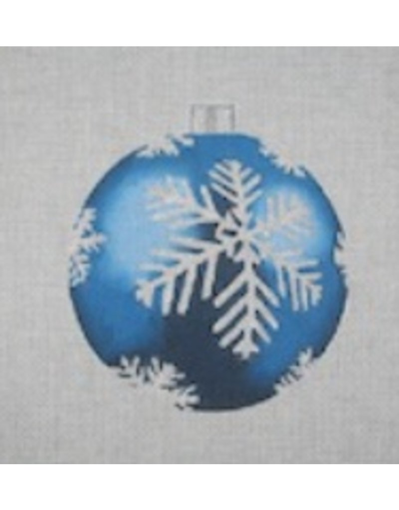 "All About Stitching Blue Snowflake ornament<br /> 4"" Round"