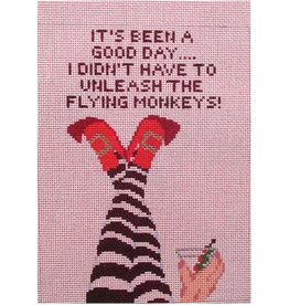 "Point of it All ""It's been a good day - I didn't have to unlease the flying monkeys!""<br /> 9"" x 7"""