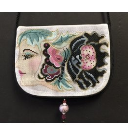 Sophia Designs Small purse w/Lady profile with flower