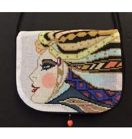 Sophia Designs Small Purse with Lady face w/ headdress<br />