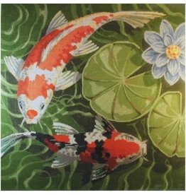 "Labors of Love Koi<br /> 15"" x 15"""