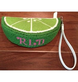 Rachel Donley Lime wedge purse