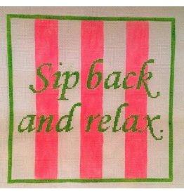 "Rachel Donley ""Sip Back &amp; Relax""<br /> 9.5"" x 9.5"""