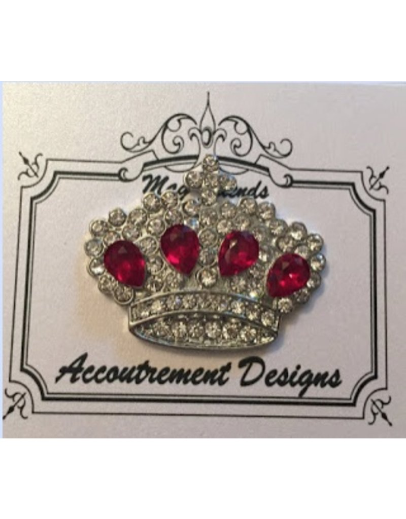 Accoutrement Designs Crown w/Ruby Stones Magnet