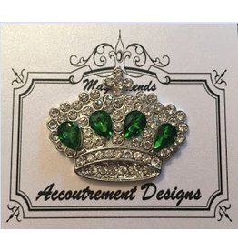 Accoutrement Designs Crown w/Emerald Stones Magnet