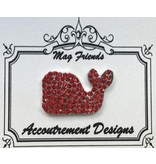 Accoutrement Designs Whale - ruby stones - magnet
