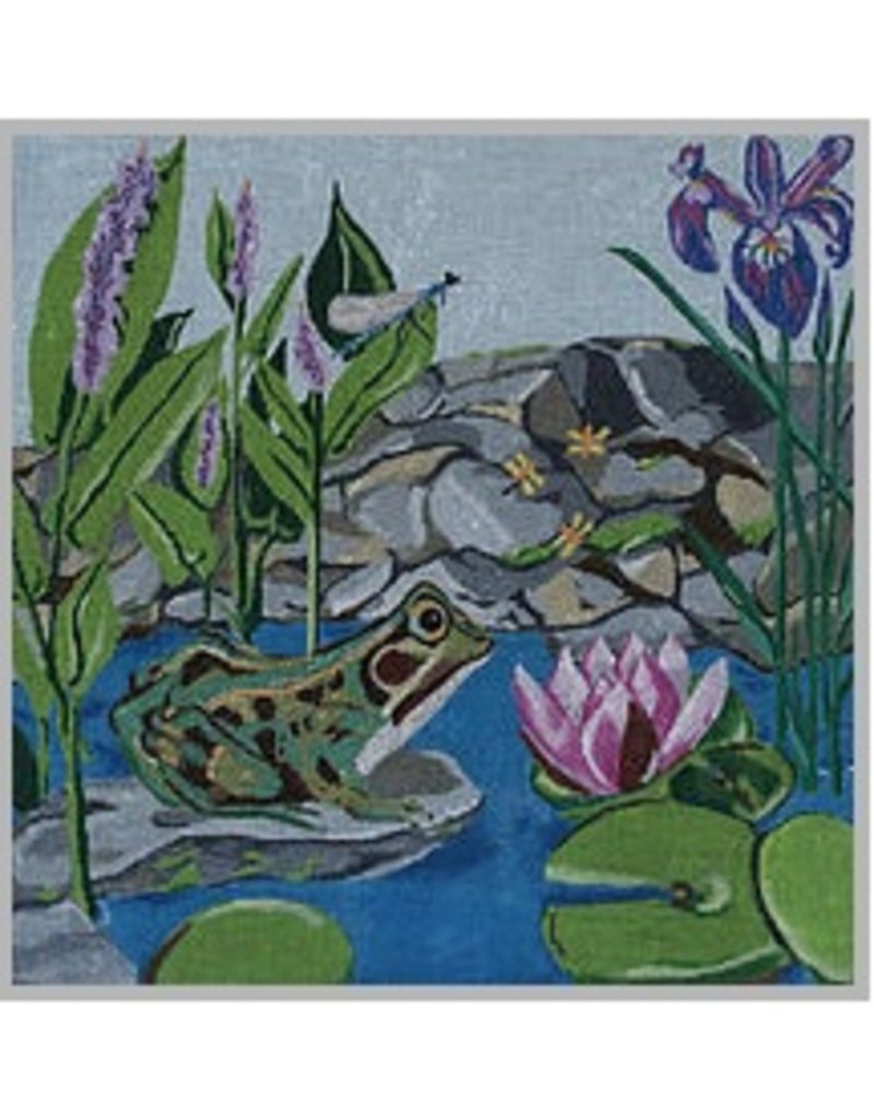 "Judy Keenan Frog Pond<br /> 13"" x 13"""