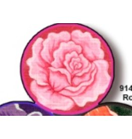 Fleur de Paris Rose Jewelry Bag with Rose on top - self finishing