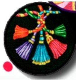 Fleur de Paris Black Jewelry Bag with Tassel design on top