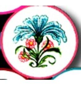 Fleur de Paris Mauve Jewelry Bag with Floral Top