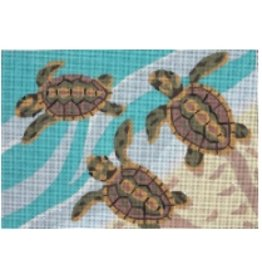 "Julie Pischke Turtles<br /> 14"" x 10"""