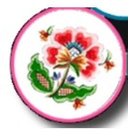 Fleur de Paris Rose Jewelry Bag with Floral Top