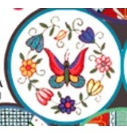 Fleur de Paris TealJewelry Bag with  Butterfly on Top