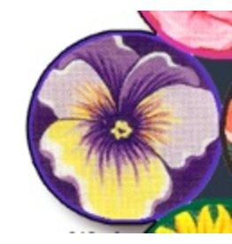 Fleur de Paris Purple Jewelry Bag with Pansy on top